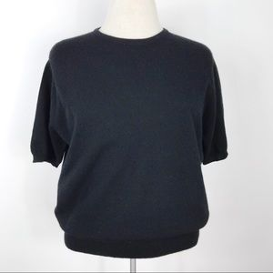 Neiman Marcus Black 100% Cashmere Sweater XL